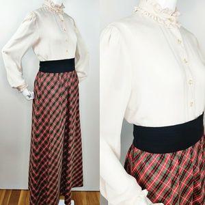 Vintage 60s Christmas Plaid Holiday Hostess Dress